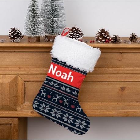 Calcetín Navidad personalizado - Fancywork