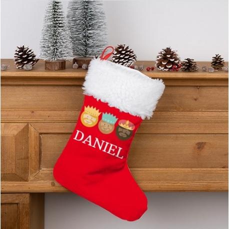 Calcetín Navidad personalizado - Reyes Magos 1