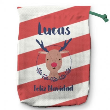 Saco para regalos Reindeer Christmas