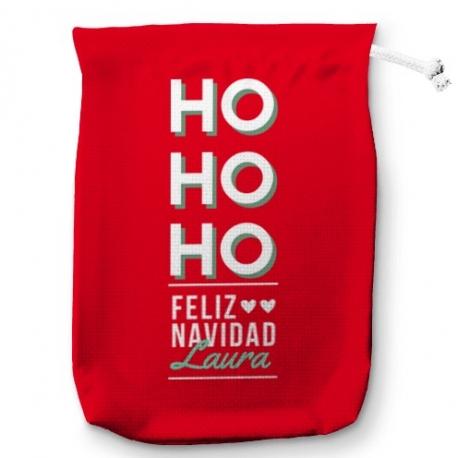 Saco para regalos HO HO HO...
