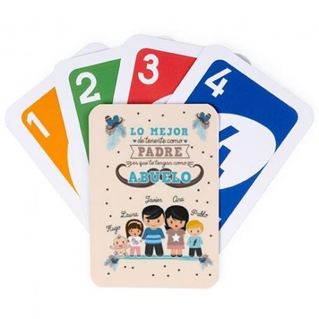 Juego de cartas UNO - LO MEJOR DE TENERTE - ABUELO Y NIÑOS
