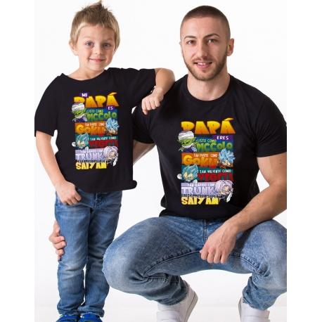 Pack camisetas papá e hijos DRAGON BALL