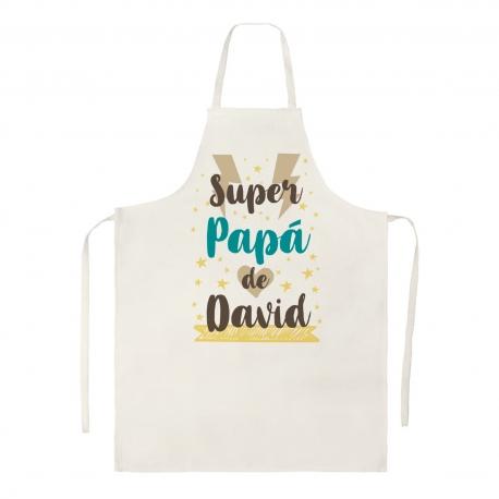 Delantal personalizado - SÚPER PAPÁ RAYOS