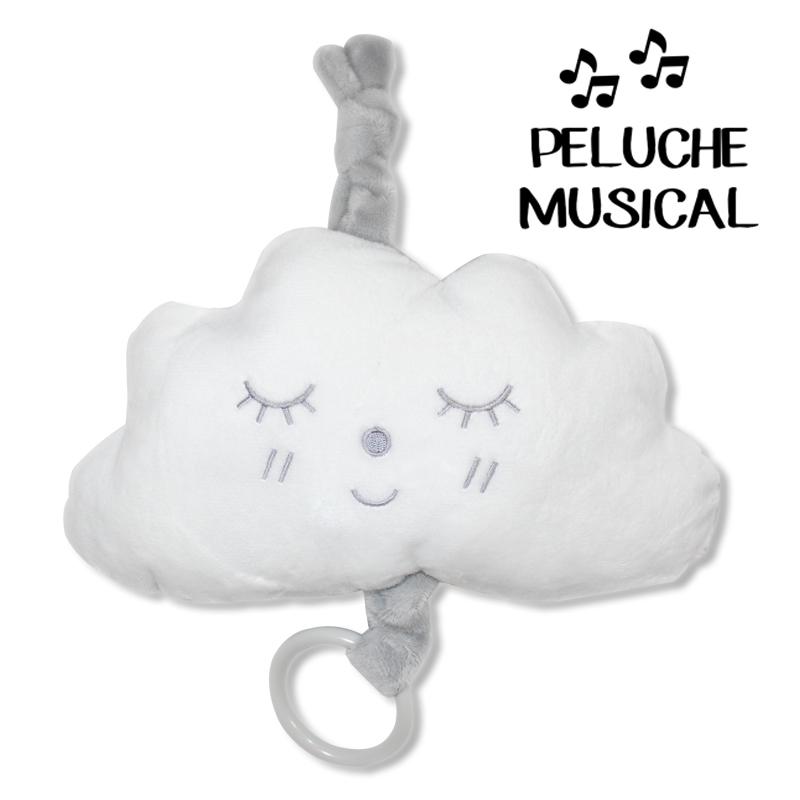 Peluche musical NUBE GRIS