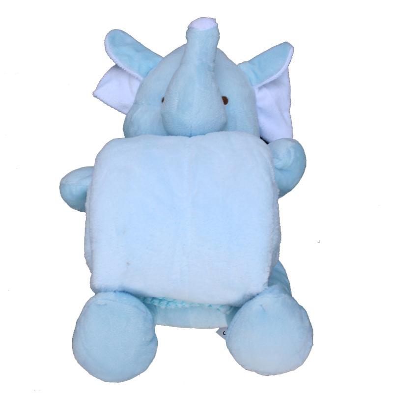 Peluche manta elefante azul