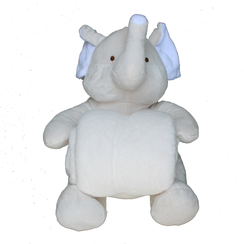 Peluche manta elefante beig