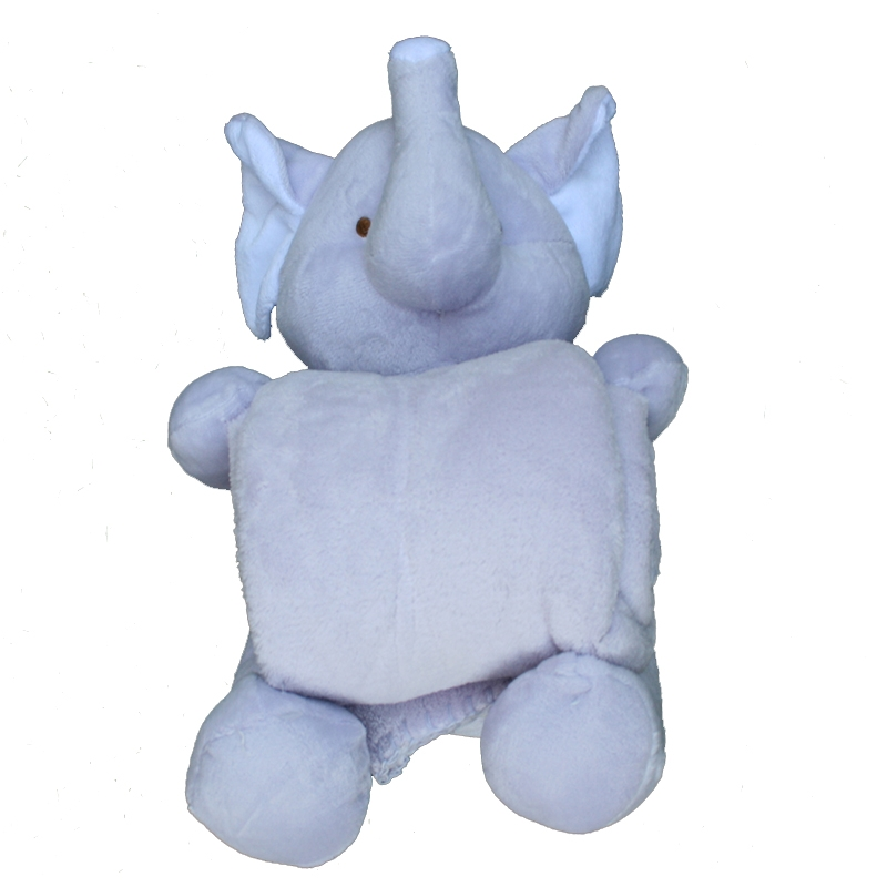 Peluche manta elefante lila
